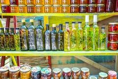 Produits faits maison au stand de nourriture Image libre de droits