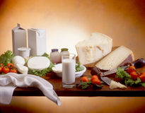Produits laitiers Images libres de droits