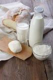 Produits laitiers Photo libre de droits