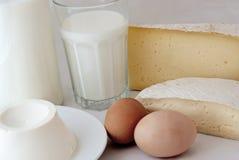 Produits laitiers Photos stock