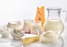 Produits laitiers Photographie stock
