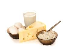 Produits laitiers et oeufs Photo libre de droits