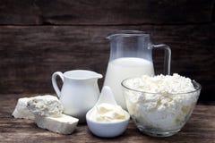 Produits laitiers frais Photos stock