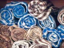Produits locaux de textile tissé, Thaïlande Images libres de droits