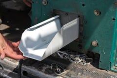 produkcja aluminiowy rynnowy deszcz Zdjęcia Royalty Free