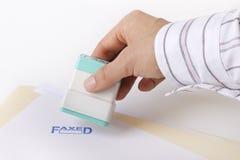 produkcja globalna faksem pieczęć Fotografia Stock