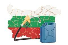 Produkcja i handel benzyna w Bułgaria, pojęcie 3D renderin Royalty Ilustracja