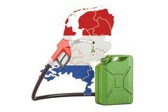 Produkcja i handel benzyna w holandiach, pojęcie 3D rende Ilustracja Wektor