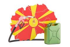 Produkcja i handel benzyna w Macedonia, pojęcie 3D renderi Royalty Ilustracja