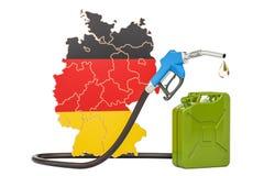 Produkcja i handel benzyna w Niemcy, pojęcie świadczenia 3 d Zdjęcie Royalty Free