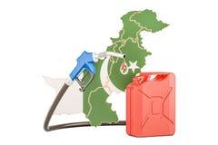 Produkcja i handel benzyna w Pakistan, pojęcie 3D renderin Ilustracja Wektor