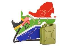 Produkcja i handel benzyna w Południowa Afryka, pojęcie - ludzki charakter - 3d rend Royalty Ilustracja