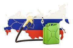 Produkcja i handel benzyna w Rosja, pojęcie świadczenia 3 d Zdjęcia Stock