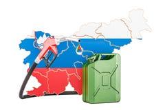 Produkcja i handel benzyna w Slovenia, pojęcie 3D renderin Ilustracja Wektor