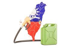Produkcja i handel benzyna w Tajwan, pojęcie świadczenia 3 d Obrazy Royalty Free