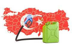 Produkcja i handel benzyna w Turcja, pojęcie świadczenia 3 d Zdjęcie Royalty Free