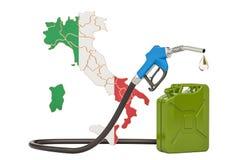 Produkcja i handel benzyna w Włochy, pojęcie świadczenia 3 d Fotografia Royalty Free