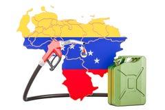 Produkcja i handel benzyna w Wenezuela, pojęcie 3D renderi Ilustracji