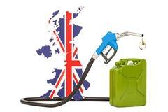Produkcja i handel benzyna w Zjednoczone Królestwo, pojęcie 3d ponowny Royalty Ilustracja