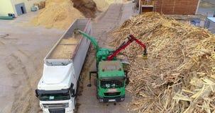 Produkcja paliwo brykietuje Proces produkcji paliwo brykietuje Przemysłowy wielkościowy drewniany rozdrabniacz zbiory wideo