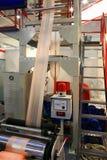 Produkcja plastikowy worek obraz stock