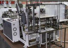 Produkcja plastikowy worek, Extruder zdjęcie stock