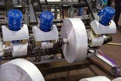 Produkcja plastikowy worek, Extruder obrazy stock