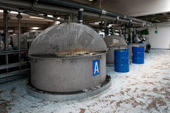 Produkcja przemysłowy olej Zdjęcia Stock