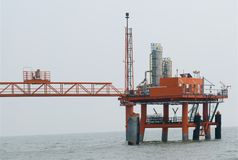 Produkcja ropy naftowej obraz royalty free