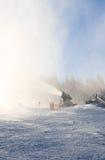 produkcja sztuczny armatni śnieg austria kurortu Schladming narta Austria Zdjęcia Royalty Free