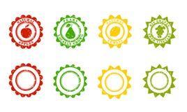 Produktów znaczki, kształty Obrazy Royalty Free