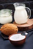 Produkt de noix de coco Photographie stock libre de droits