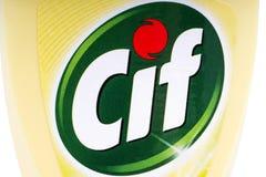 Produkt för Cif-hushålllokalvård Arkivfoto