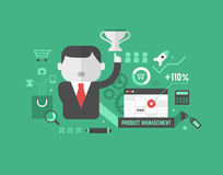 Produkt-Förderung. Digital-Marketing und -Werbekonzeption Lizenzfreie Stockfotos