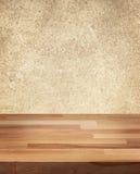 Produkt fotografii szablonu Drewniany stół obrazy stock