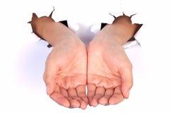 Produkt an Hand Lizenzfreie Stockfotos