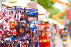 Produkt i porslinstadmarknaden, singapore Royaltyfri Fotografi