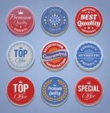 Produkt promoci odznaki i guziki ilustracji
