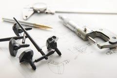 Produkt und Zeichnung lizenzfreie stockfotos