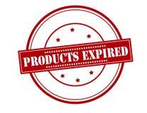 Produkte abgelaufen stock abbildung