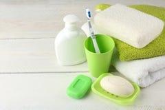 Produkte der persönlichen Hygiene Stockfotografie