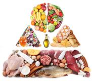 Produkte für eine ausgewogene Diät lizenzfreies stockbild