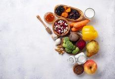 Produkte f?r gesunden Darm Nahrung f?r Darm lizenzfreie stockbilder