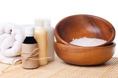 Produkte für Badekurort, Karosseriensorgfalt und Hygiene Stockbild