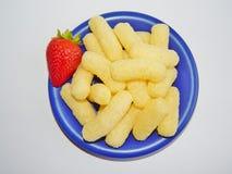 Produkte gebildet vom Mais Lizenzfreie Stockfotografie