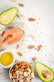 Produkte mit gesunden Fetten stockbilder