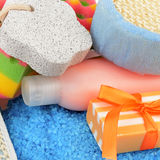 Produkte persönlicher Hygiene R Stockbild