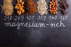 Produkte reich im Magnesium lizenzfreie stockfotos