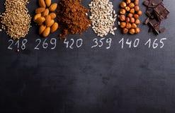 Produkte reich im Magnesium stockbilder