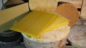 Produkte von Lebensunterhalt von Bienen Produkte von Imkerei stock video